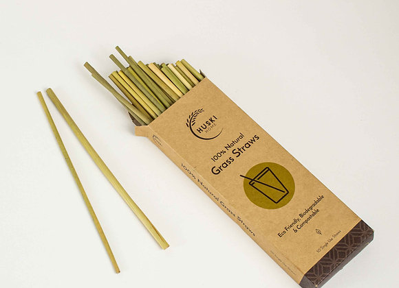 Biodegradable grass drinking straws. Fillthemup