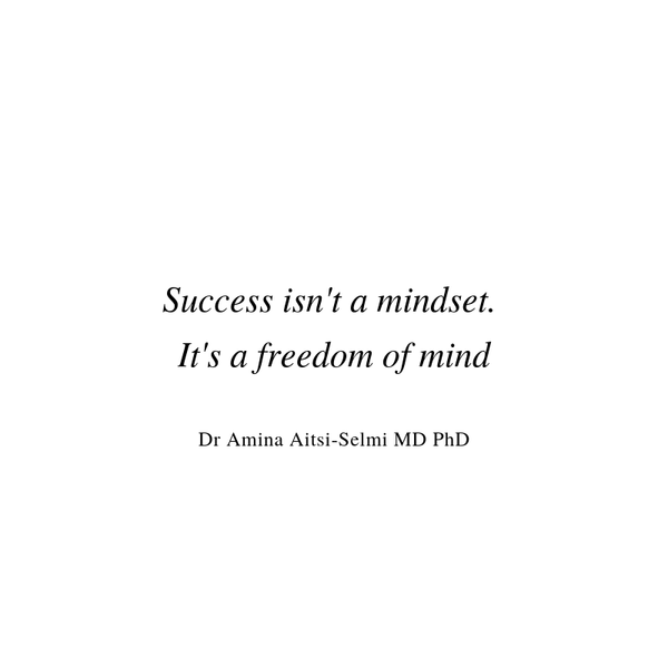 Forget about mindset. Set your mind free to succeed instead