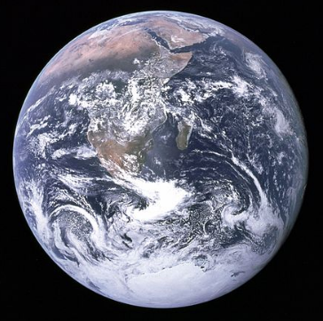 "The blue marble photo (1972). ""There is no planet B"" United Nations Secretary General, 2015."