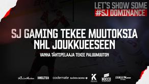 SJ GAMING tekee muutoksia NHL joukkueeseen – vanha tähtipelaaja tekee paluumuuton