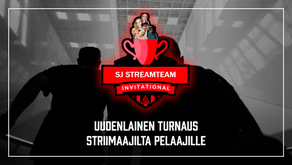 SJ STREAMTEAM INVITATIONAL pelataan lauantaina 1.8
