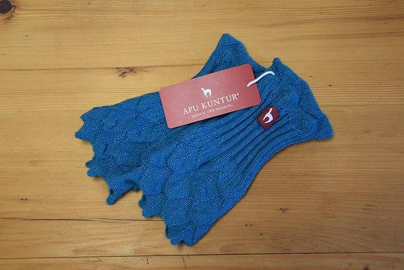 Pulswärmer Alpaka blau
