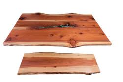 Natural Live Edge Redwood Slab