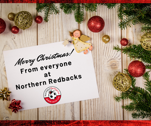 A Christmas greeting image from Northern Redbacks