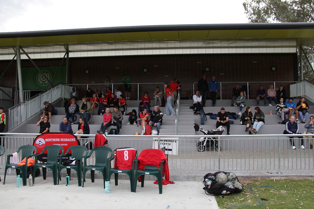 Picture of a soccer stand.