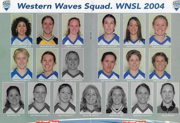 2004 Western Waves Squad