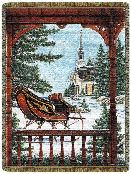 Santa's Sled Custom Throw Blanket