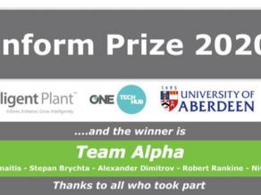 Inform Prize 2020 winners - Team Alpha!