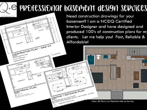 Basement Drawings Full Construction Set