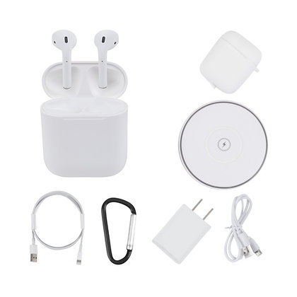 Airplus 4 Wireless Bluetooth Earphones with Charging Case - Complete Bundle