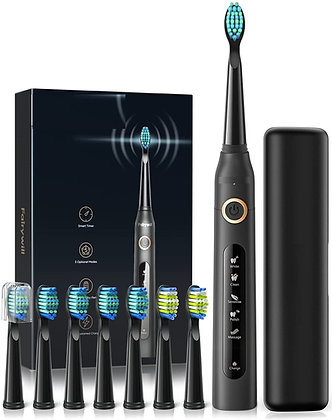 Electric Toothbrush Powerful Sonic Cleaning, Rechargeable Toothbrush Bundle