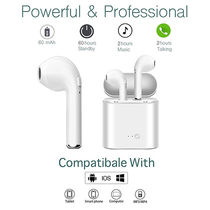 Wireless Bluetooth Ear Buds with Charging Case