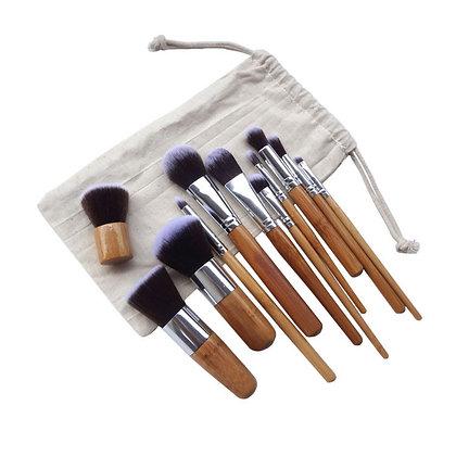 12 Pieces Makeup Brush Set Professional Bamboo Handle