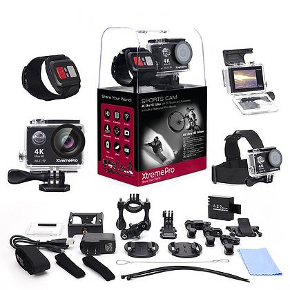 XtremePro 4K Ultra HD Sports Camera Bundle with Wireless Wrist Remote and 20 Acc