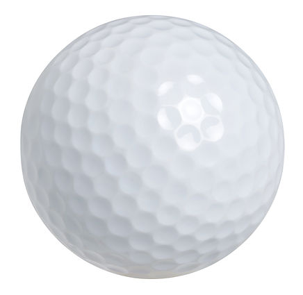 Golf ball isolated on white with clippin