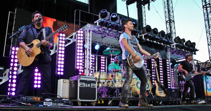 Performing on stage with Jake Owen