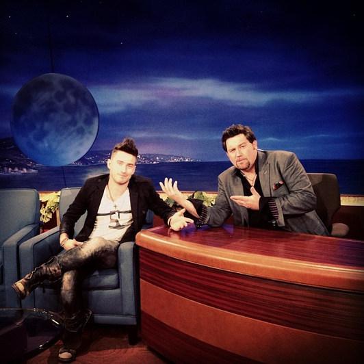 Derek on the set of Conan in Burbank, CA
