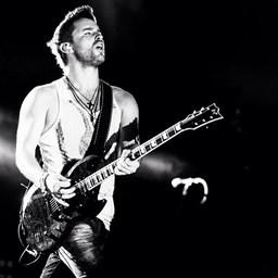 Derek picture on stage at a landmark concert in Nashville,TN