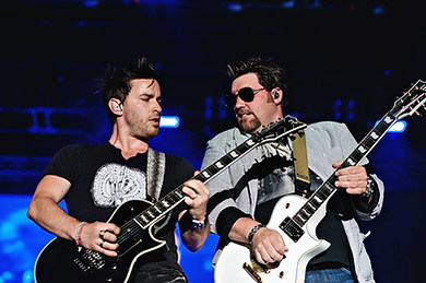 Derek Williams and Joe Arick from Jake Owen's band