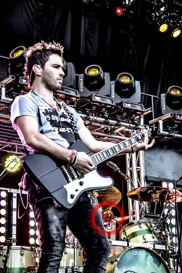 Derek Shown with his ESP Guitar