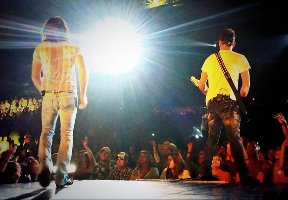Derek and Jake Owen On Stage