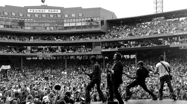 Jake Owen's Band Performing at Wrigley Stadium
