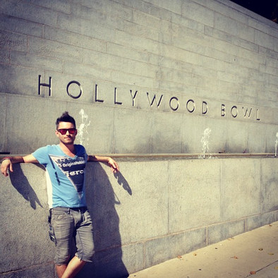 Derek pre-show at the Hollywood Bowl