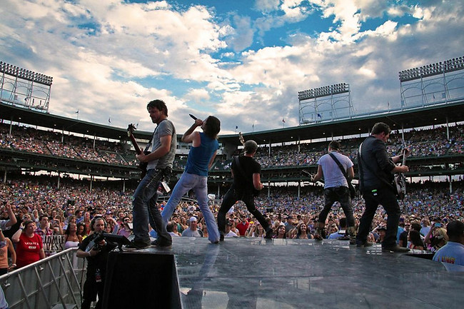 Jake Owen's Band at Wrigley Stadium