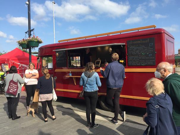 vegan food bus artisan market