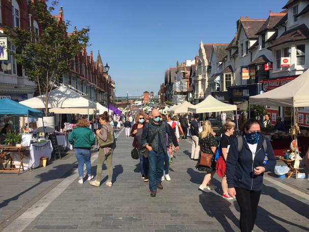 busy colwyn bay artisan market