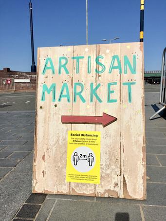 artisan market sign colwyn bay