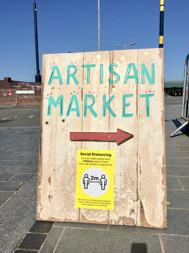 artisan market sign colwyn bay