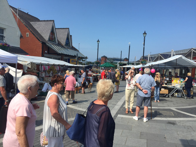 north wales, colwyn bay local market
