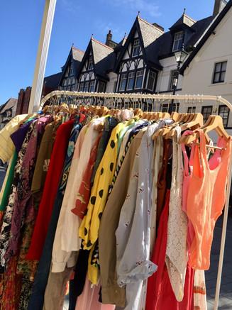 colwyn bay local market fashion stall