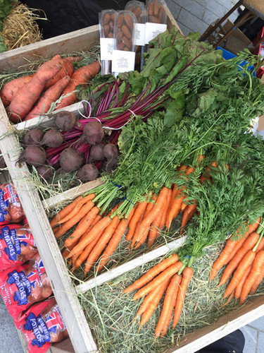 colwyn bay local market fruit and veg stall