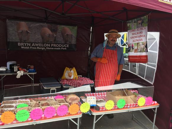 north wales butcher on colwyn bay market
