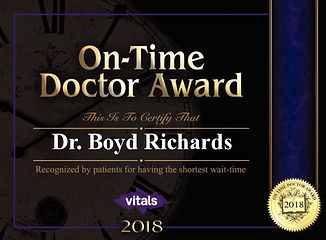 Richards On-Time Doctor Award Vitals 201