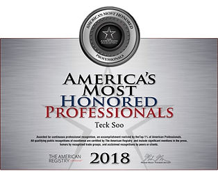 Soo America's Most Honored Professionals