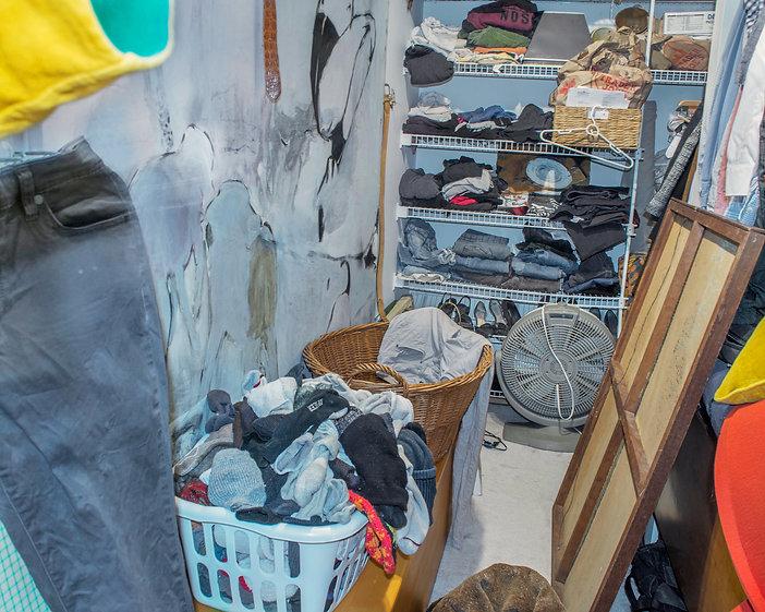 Closet, shirt, pants, painting, laundry,
