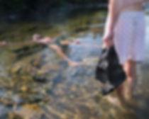 Swimming, water, nature, rocks, shorts, laying, men, summer, outside, sun