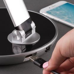 The Elevate desk silver USB