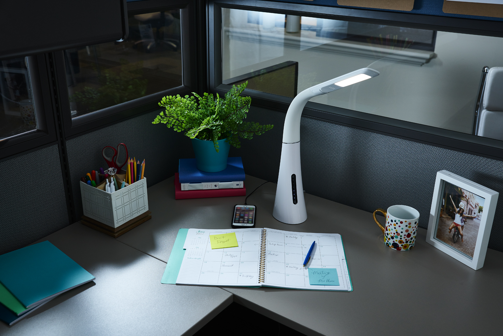 OttLite WorkWell Twist Desk Lamp