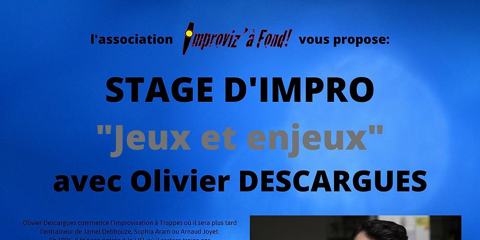 Stage JEUX ET ENJEUX avec Olivier DESCARGUES