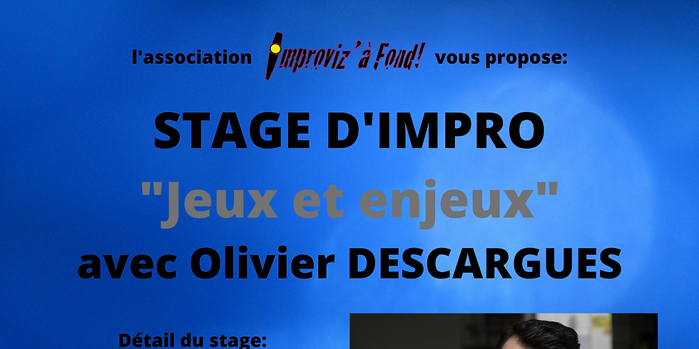 Stage JEUX ET ENJEUX avec Olivier DESCARGUES (report du 03/05)