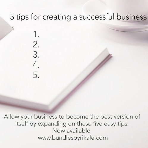 5 handy tips for creating a successful business