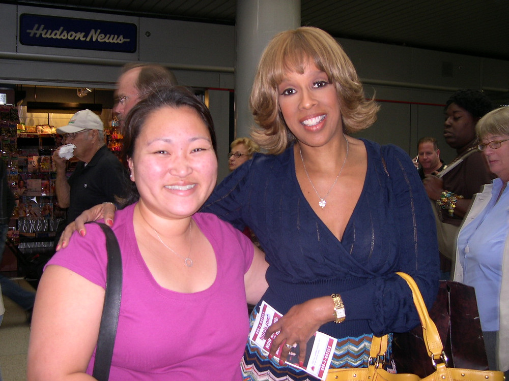 Michele Kim Carter and Gayle King