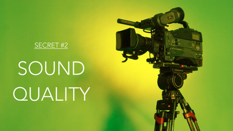 Sound Quality is Even More Important than Video Quality