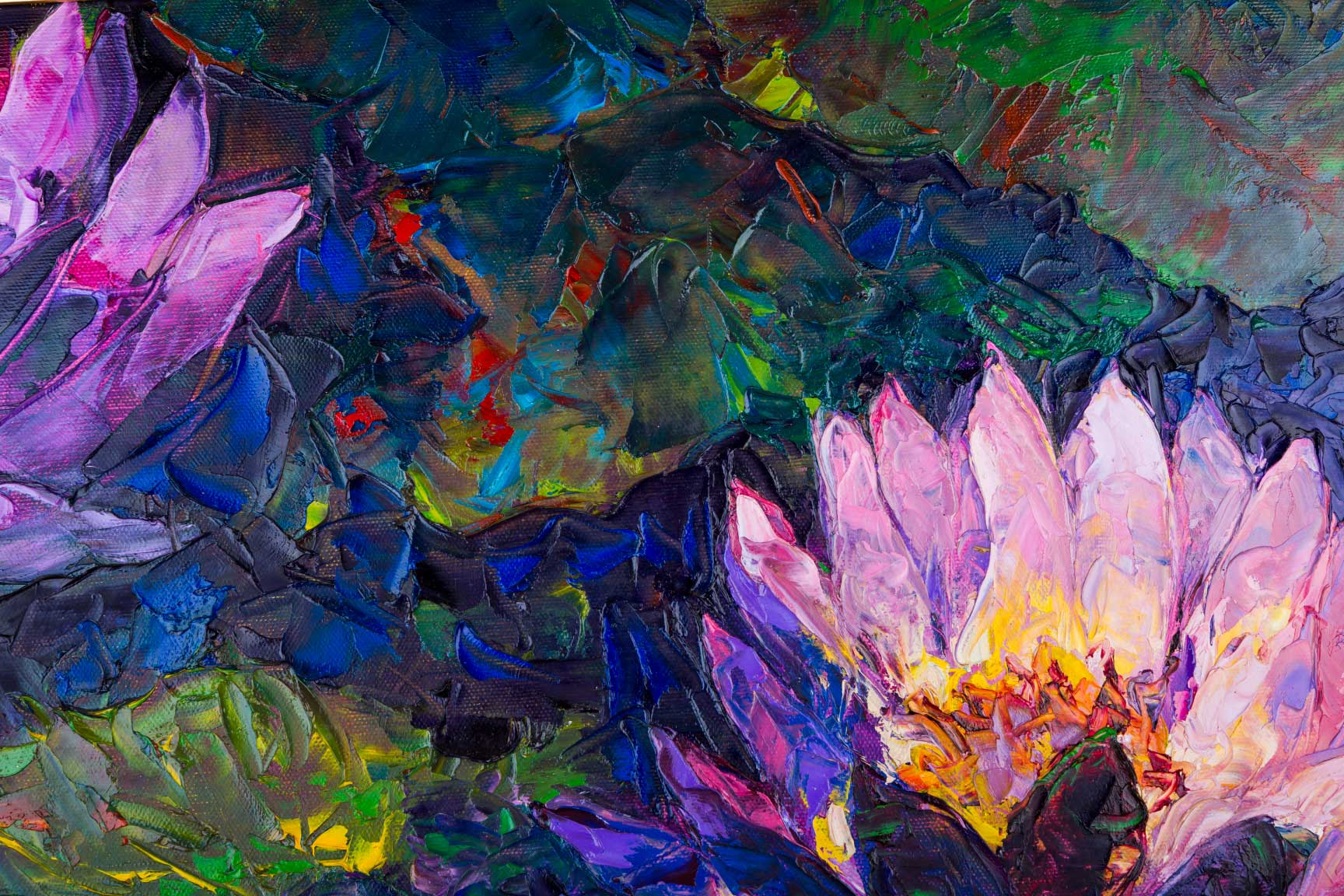 oil-painting-beautiful-lotus-flower