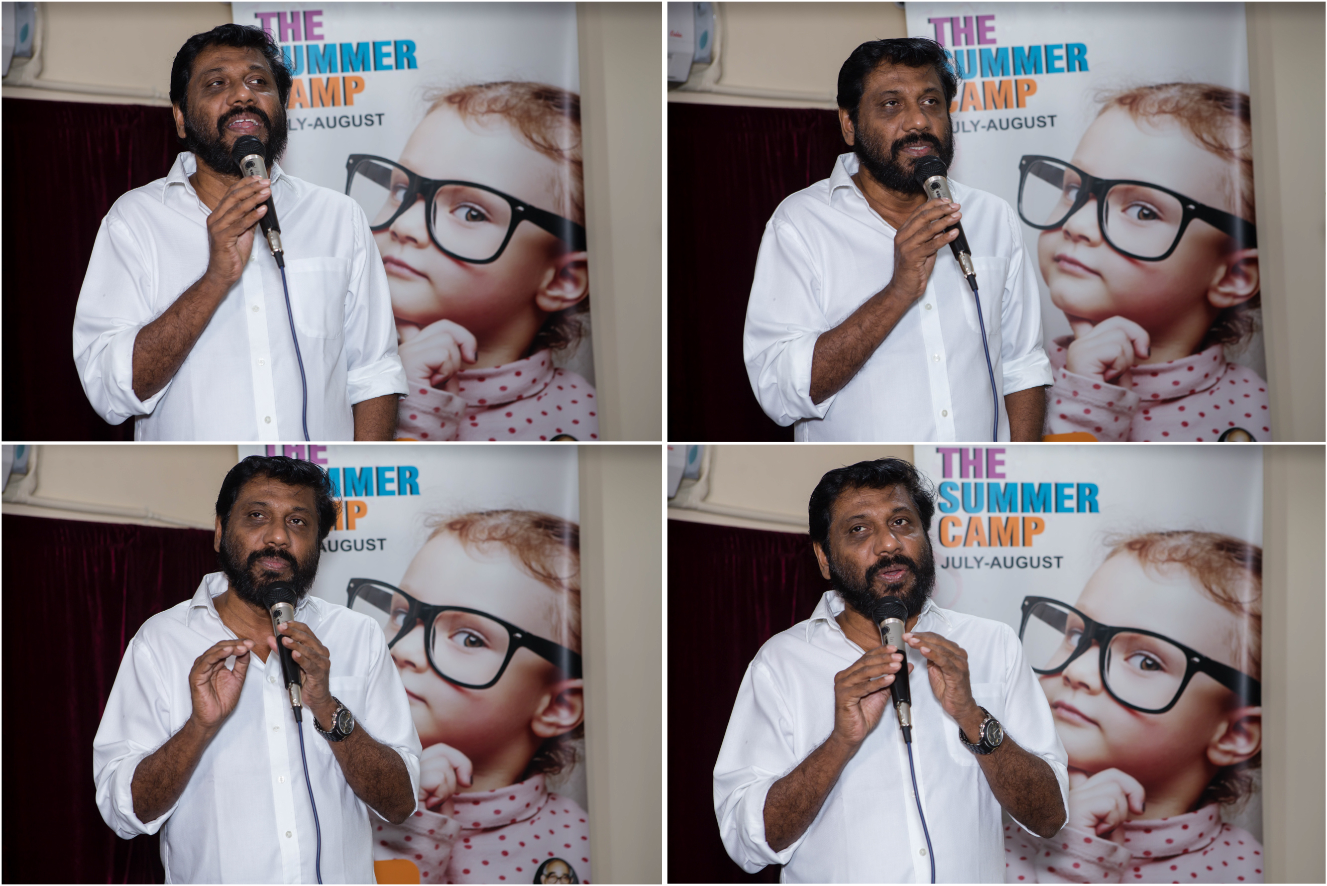Collage - Siddique speech