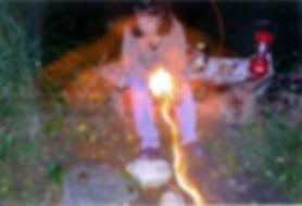 Roberta Jones and fire